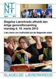 april 2012 - Aktuelt fra Slagelse Lærerkreds