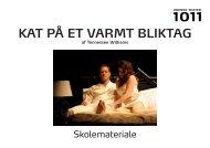 KAT PÅ ET VARMT BLIKTAG af Tennessee Williams - Odense Teater