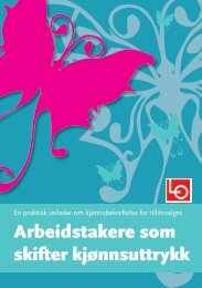 Arbeidstakere som skifter kjønnsuttrykk - Landsorganisasjonen i Norge