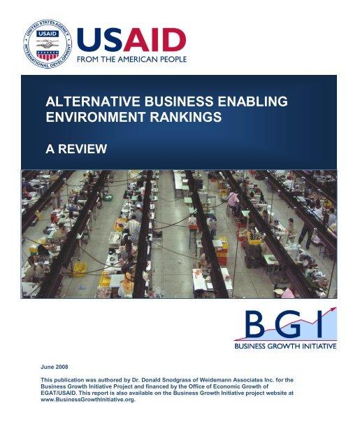 Alternative Business Enabling Environment ... - Economic Growth