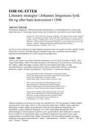 Litterære strategier i Johannes Jørgensens lyrik før og efter hans ...