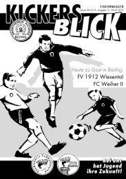 FV 1912 Wiesental FC Weiher II - SV Kickers Büchig