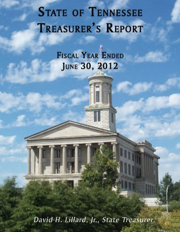 2012 Treasurer's Report - Tennessee Department of Treasury