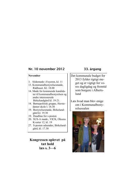 S-Posten november 2012 - Socialdemokraterne Albertslund