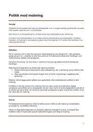 Politik mod mobning 19 marts 2012 - Syddansk Erhvervsskole