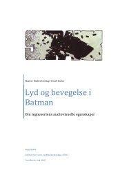 Lyd og bevegelse i Batman - Om tegneseriens ... - Masterbloggen