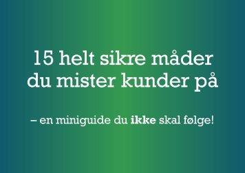 15 råd du aldeles ikke skal følge som konsulent. - Shipley Nordic