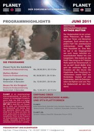 PROGRAMMHIGHLIGHTS JUNI 2011 - Planet