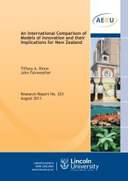 An international comparison of models of innovation and their ...