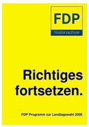 Wahlprogramm der FDP - des Deutschen Hanf Verband
