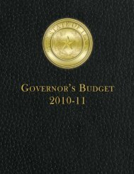 Proposed State Budget for FY 2010-11 - Office of the Governor ...