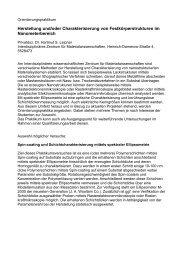 Herstellung und/oder Charakterisierung von Festkörperstrukturen im ...