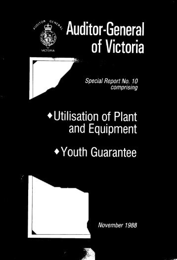Utilisation of plant and equipment ; Youth Guarantee