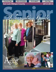 San Luis Obispo County Senior Information Guide 2012-2013