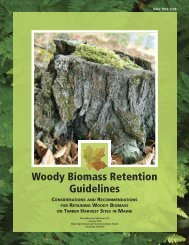 Woody Biomass Retention Guidelines - Maine.gov