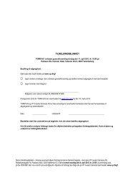 TORM GF 2013 - Tilmeldingsblanket og fuldmagtsblanket