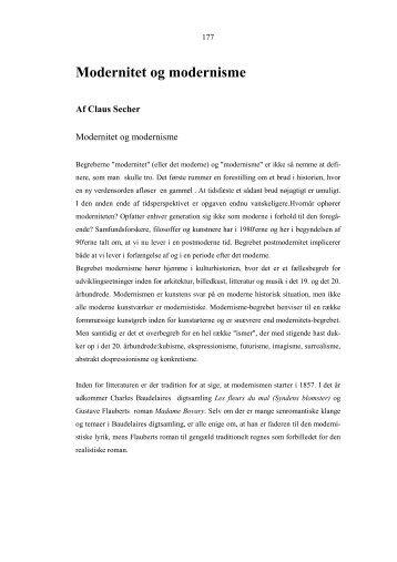 Modernitet og modernisme - it-lab