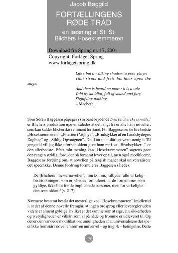 hosekræmmeren analyse og fortolkning
