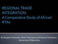 Regional Trade Integration: A Comparative Study of African RTAs