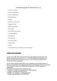Vereinssatzung des SV Neukirchen 21 e