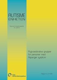 Psykoedukative grupper for personer med ... - Autismeenheten