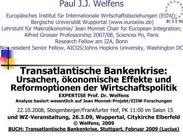 BUCH: Transatlantische Bankenkrise - EIIW