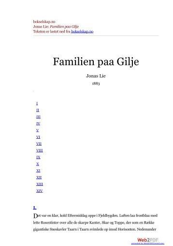 bokselskap.no Jonas Lie: Familien paa Gilje