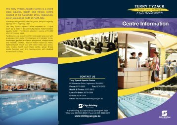 Terry Tyzack Aquatic Centre General Information