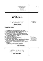 ZESTAW ZADAŃ Z MATEMATYKI - Zadania.info