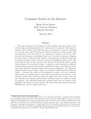 Consumer Search on the Internet - Kelley School of Business ...