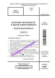 egzamin maturalny z języka rosyjskiego poziom ... - dlaStudenta.pl