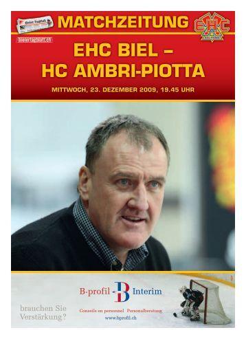 EHC BIEL – HC AMBrI-pIoTTA