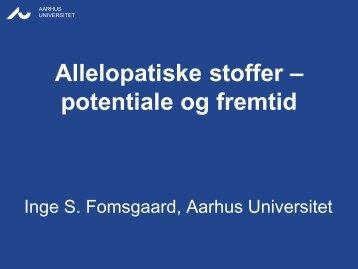 Allelopatiske stoffer - potentiale og fremtid - LandbrugsInfo