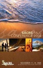 SACRS FALL CONFERENCE 2008