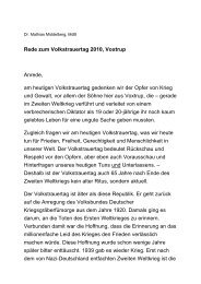 Rede zum Volkstrauertag, 14. November 2010 - Dr. Mathias ...