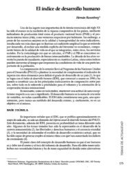 El índice de desarrollo humano - PAHO/WHO