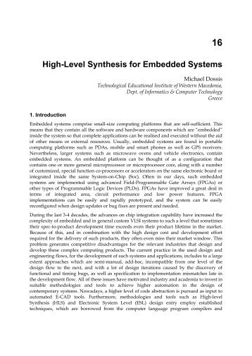 Dynamic scheduling high level synthesis critical analysis of a scientific research paper