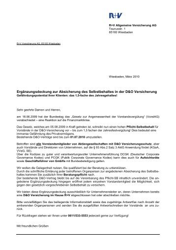 Informationsblatt zur Selbstbehalt-Ergänzungsdeckung - R+V ...