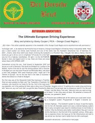 Der Porsche Brief - North Florida - Porsche Club of America