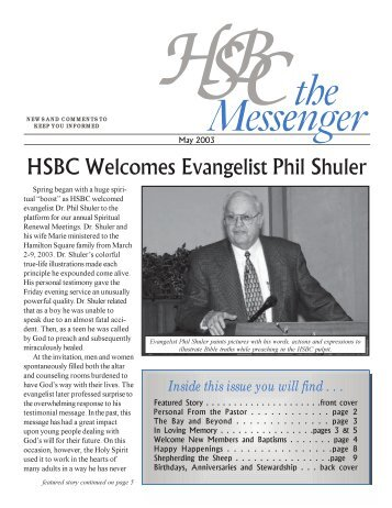 May 2003 - Hamilton Square Baptist Church