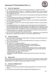 Satzung des TT-Kreisverbandes Peine e. V. - Tischtennis ...