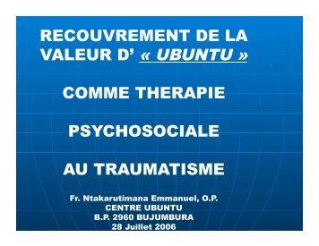 VALEUR D' « UBUNTU »