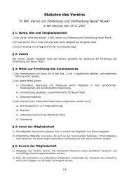 Statuten des Vereins - V:NM