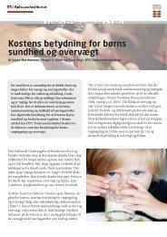 Kostens betydning for børns sundhed og overvægt - DTU Orbit