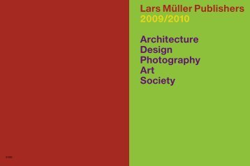 Lars Müller Publishers 2009/2010 Architecture Design Photography ...