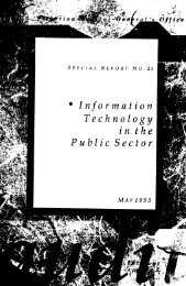 Information Technology in the Public Sector