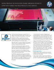 digital printing technologies enable serigrafia pioner to offer ... - HP