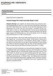 Presse-Information Porsche Design-Film erhält Intermedia Globe in ...