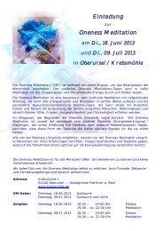 Einladung zur OM Offenburg 8.12.2012 - Oneness 24