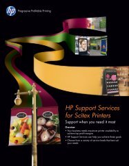 HP Support Services for Scitex Printers